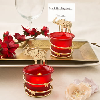 FC-4789-India themed candle votive holder with placecard or photo holder