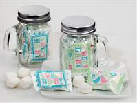 705-10-SWEETBABY-Mint Candy Favors with Mason Jar Sweet Baby Design