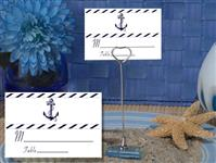 CH-9012-Metal Place Card Holder with Nautical Design Card