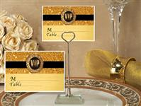 CH-9031-Metal Place Card Holder with Gold Vip Design Card