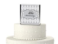 CTS9502-25th Anniversary cake topper