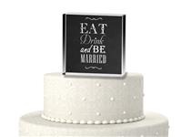 CTS9506-Eat, Drink and be Married cake topper