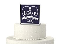 CTS9517-Love is our anchor cake topper