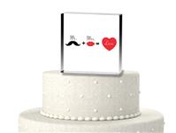 CTS9520-Mr. and Mrs. Cake topper