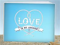 GB9604-Anchored in love guest book