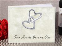 GB9627-Classic Two Hearts become one guest book