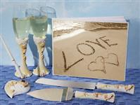 WSET9617-Love on the beach wedding accessory set