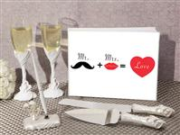 WSET9619-Mr. and Mrs. wedding accessory set