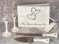 WSET9627-Classic Two Hearts become one wedding accessory set