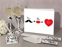 WSET9632-You and Me equals love wedding accessory set