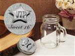 705-384-Vintage mini mason jar favor silver sweet 16 design