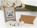KR75WhiteMint-8071-White Mint favor in Kraft pillow box vip sweet 16 design